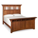 Amish made MaKayla Panel Bed in Quarter Sawn Oak - Cal King size - Oak For Less® Furniture