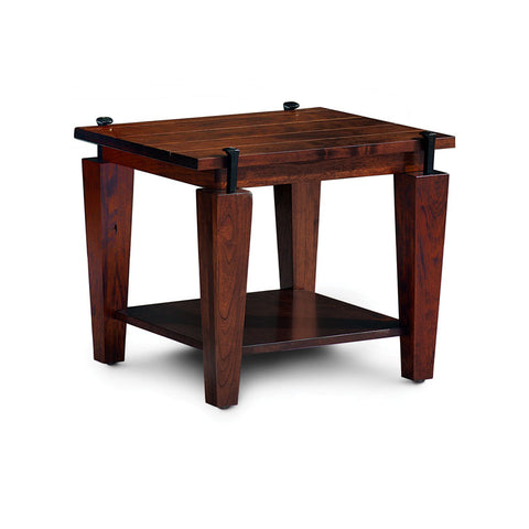 Amish made B & O Railroad© Spike End Table in Solid Character Cherry - Oak For Less® Furniture