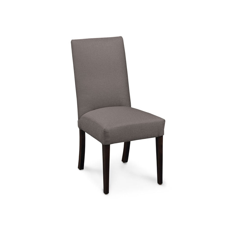 Amish made Claire Upholstered Side Chair - Flint Gray fabric - Oak For Less® Furniture