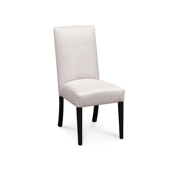 Amish made Claire Upholstered Side Chair - Linen Creme fabric - Oak For Less® Furniture