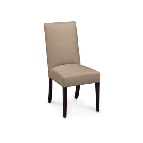 Amish made Claire Upholstered Side Chair - Pewter fabric - Oak For Less® Furniture