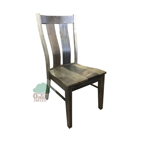 Amish made Mitchell Side Chair in Solid Brown Maple - Silver Creek finish - Oak For Less® Furniture