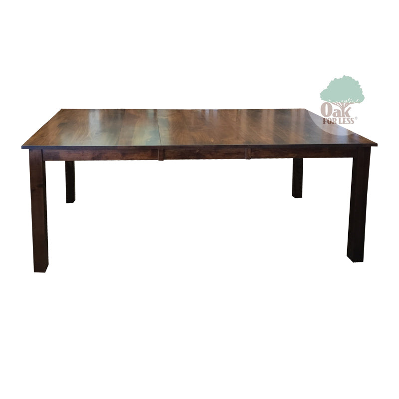 amish sheffield solid brown maple wood table oak for less