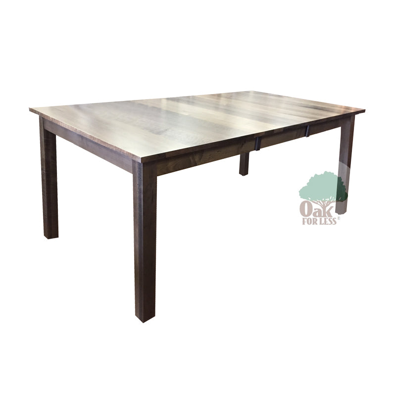Amish made Sheffield Table in Solid Brown Maple - Silver Creek finish - Oak For Less® Furniture