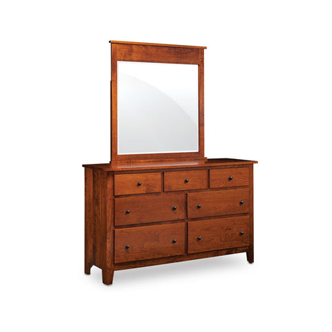 Amish made Shenandoah 7 Drawer Dresser with Mirror - Oak For Less® Furniture