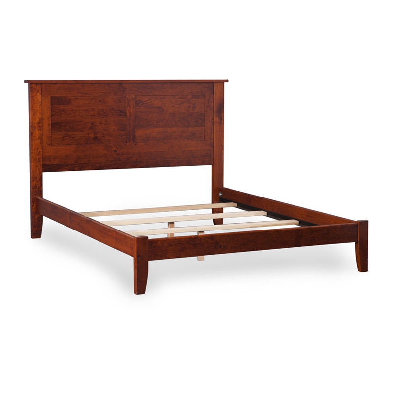 Amish made Shenandoah Bed with Panel Headboard and Wood Frame - Cal King size - Oak For Less® Furniture