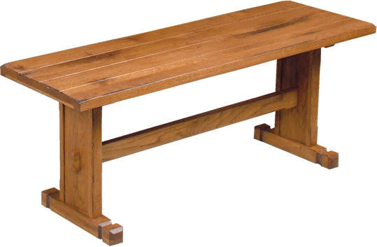 SD-0219RO-SB - Sedona Rustic Oak Side Bench - Oak For Less® Furniture