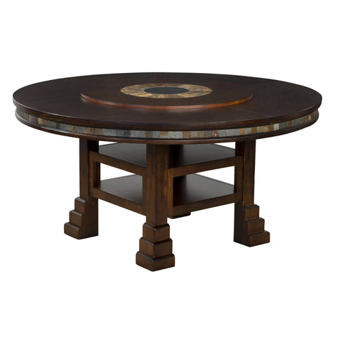 "SD-1225DC - 60"" Santa Fe Round Table with Lazy Susan"