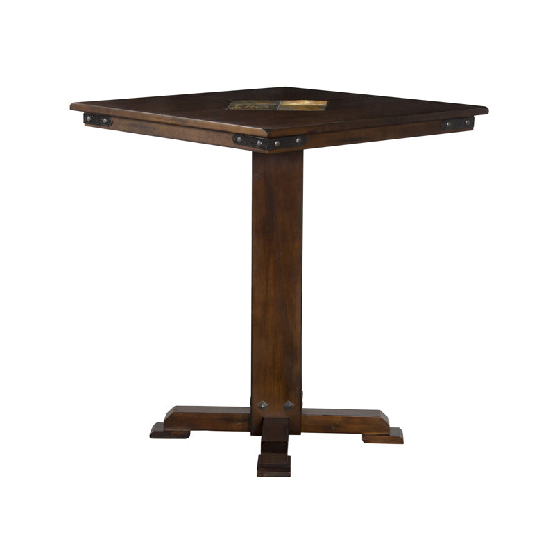 "SD-1232DC - 36"" x 36"" x 42"" h Santa Fe Pub Table with Slate Inlays - Oak For Less® Furniture"