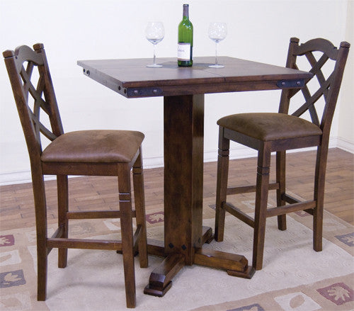 SDDC X X H Santa Fe Pub Table With Slate Inlays - Dining table with slate inlay