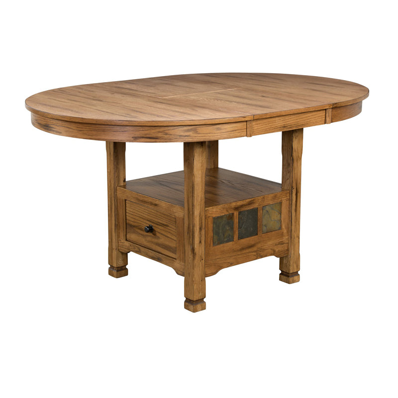 "SD-1247RO - 48"" x 48/66"" x 36"" h Sedona Rustic Oak Oval Tall Table"