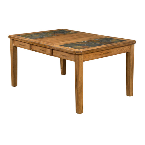 "SD-1273RO - 42"" x 42/60"" Sedona Rustic Oak Slate Inlay Rectangular Table"