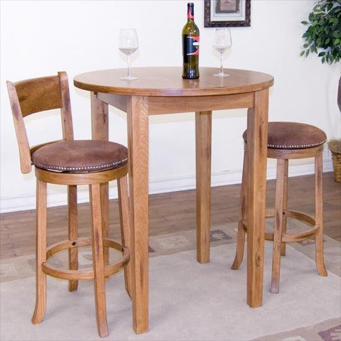 "36"" r x 42 h Sedona Rustic Oak Pub Table"