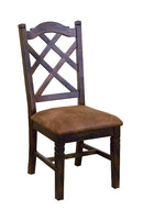 SD-1415DC - Santa Fe Double-Xback Side Chair with Cushion Seat - Oak For Less® Furniture