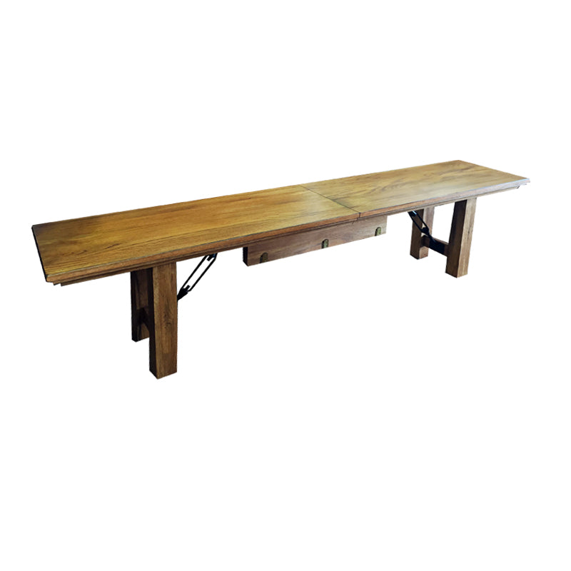 Rustic Oak Expandable Bench on Clearance