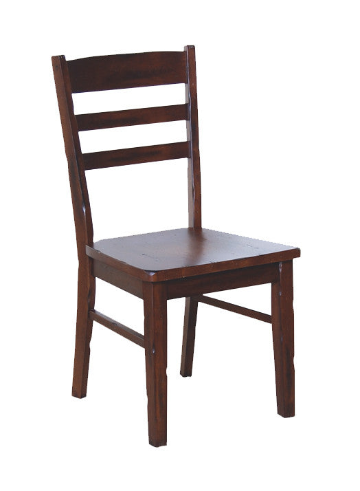 SD-1616DC - Santa Fe Small Ladderback Side Chair with Wood Seat - Oak For Less® Furniture