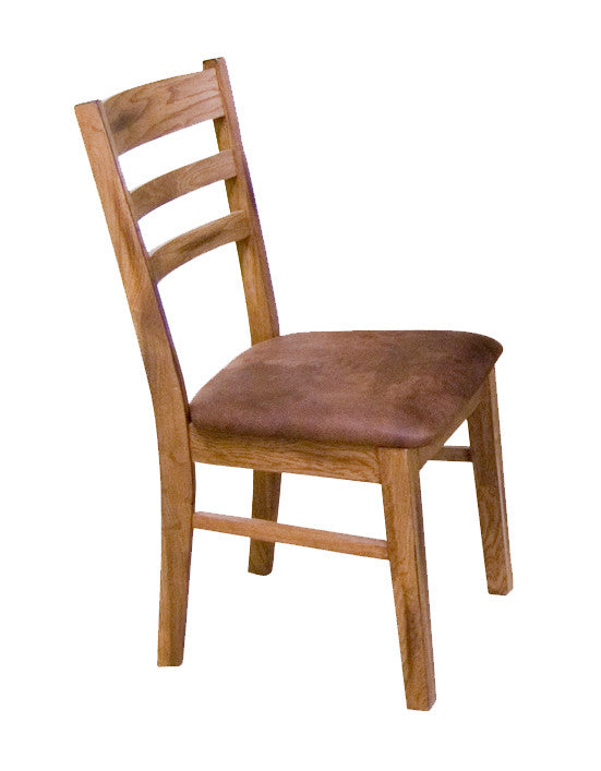 SD-1616RO-CT - Sedona Small Ladderback Side Chair with Cushion Seat - Oak For Less® Furniture