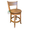 Rustic Swivel Barstool with Back | Oak For Less ®