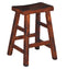 "SD-1768DC - Santa Fe Rustic Saddleseat Barstool 24"" h - Oak For Less® Furniture"