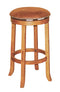 "SD-1783RO - Sedona Rustic Round Swivel Barstool 30"" h - Oak For Less® Furniture"