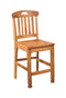 "SD-1820RO - Sedona Rustic Heavy Slatback Barstool 24"" h - Oak For Less® Furniture"