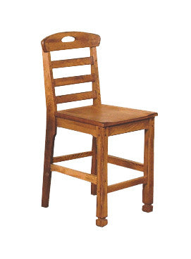 "SD-1822RO - Sedona Rustic Heavy Ladderback Barstool 24"" h - Oak For Less® Furniture"
