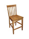 "SD-1854RO - Sedona Rustic Slatback Barstool 24"" h - Oak For Less® Furniture"