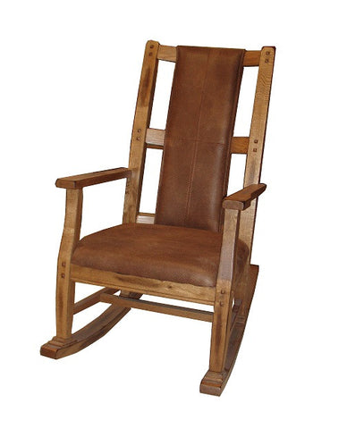 SD-1935RO-2 - Sedona Rustic Oak Rocker with T-fabric - Oak For Less® Furniture