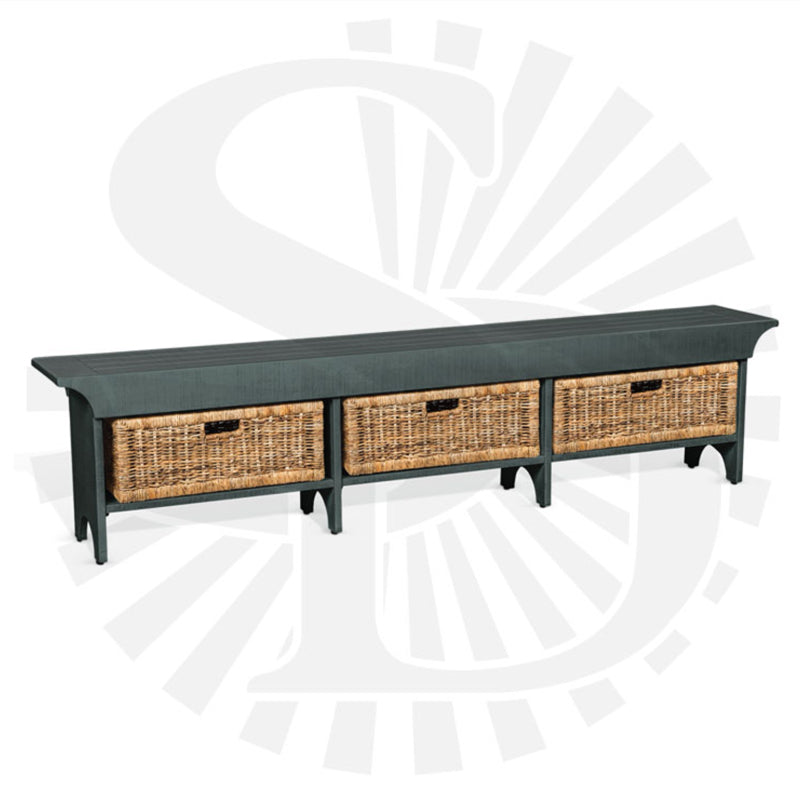 SD-2025LB-L - Long Bench with Storage Baskets