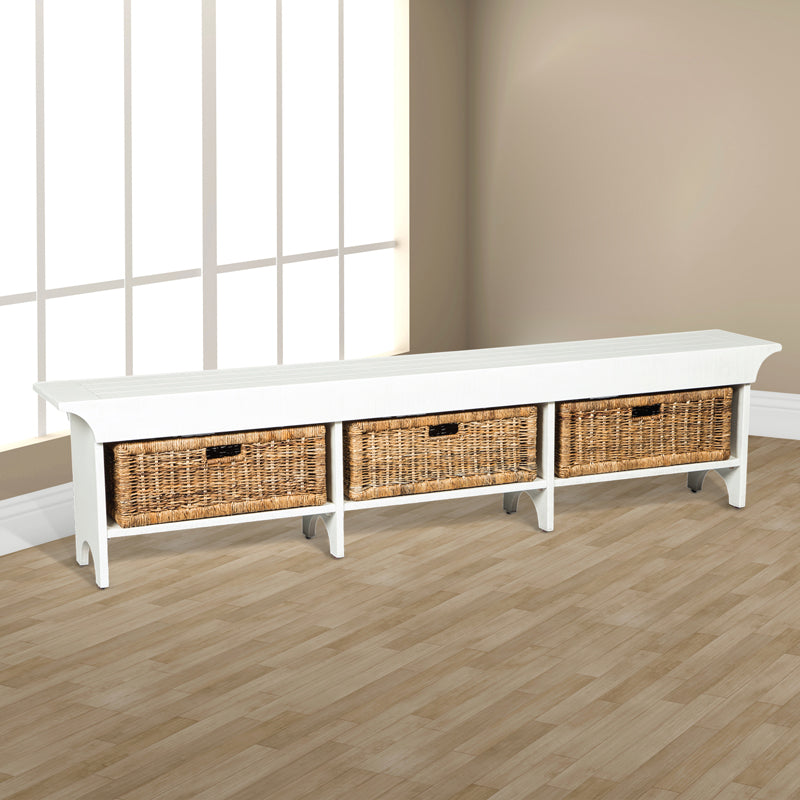 SD-2025RB-L - Long Bench with Storage Baskets