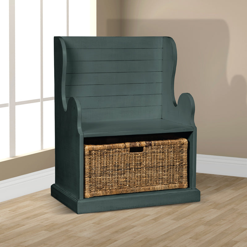 SD-2026LB - Bench with Storage Basket