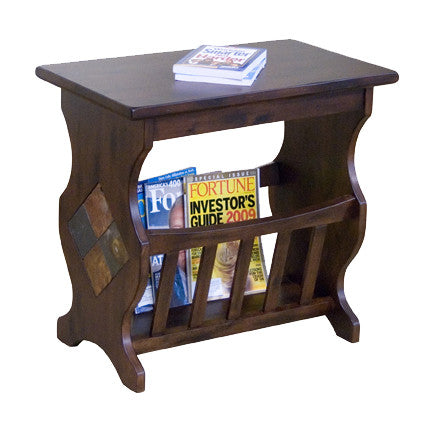 SD-2133DC - Santa Fe Rustic Magazine Table - Oak For Less® Furniture