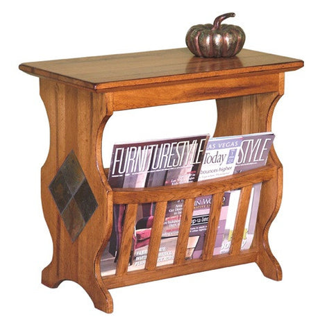 SD-2133RO Sedona Rustic Oak Magazine Table - Oak For Less® Furniture