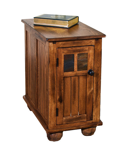 SD-2158RO2 - Sedona Rustic End Table with Door - Oak For Less® Furniture