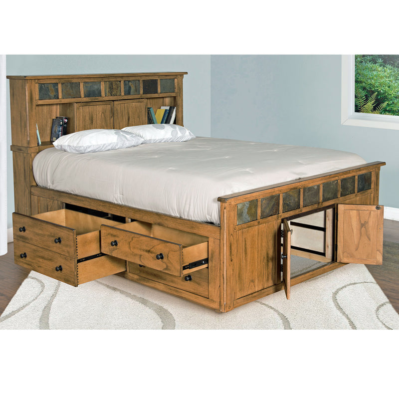 SD-2334RO-SEK - Sedona Rustic Petite Storage Bed - E King Size - Oak For Less® Furniture