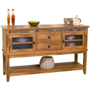 "SD-2446RO-D - 60"" Sedona Rustic Oak Server - Oak For Less® Furniture"