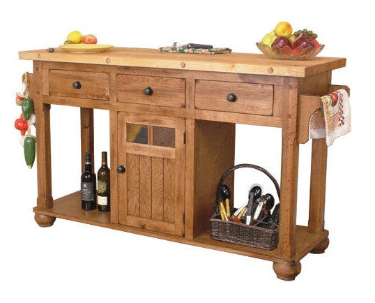 SD-2522RO - Sedona Rustic Oak Kitchen Island - Oak For Less® Furniture