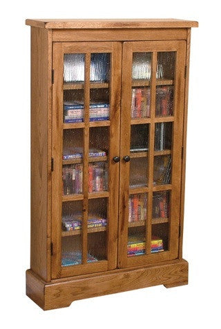 SD-2607RO - Sedona Rustic Oak CD Cabinet with Doors - Oak For Less® Furniture