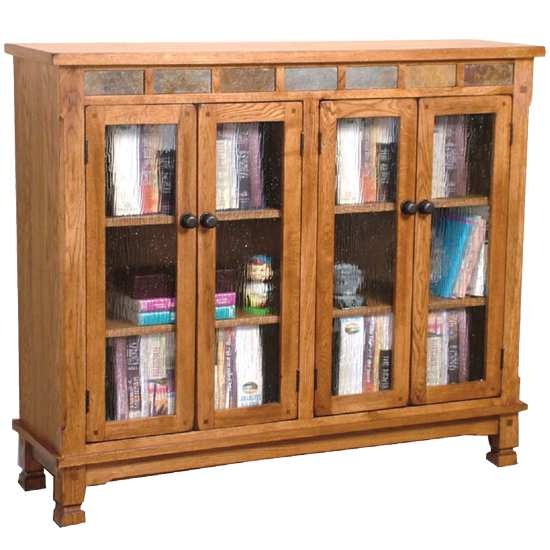 "SD-2813RO2 - Sedona Rustic 42"" h Bookcase with Doors - Oak For Less® Furniture"