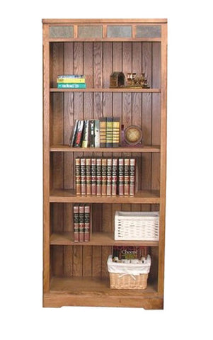 SD-2862RO-BO - Sedona Rustic Oak Bookcase - Oak For Less® Furniture