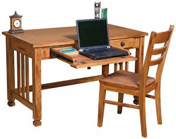 "SD-2868RO - 50"" Sedona Rustic Oak Laptop Writing Desk - Oak For Less® Furniture"