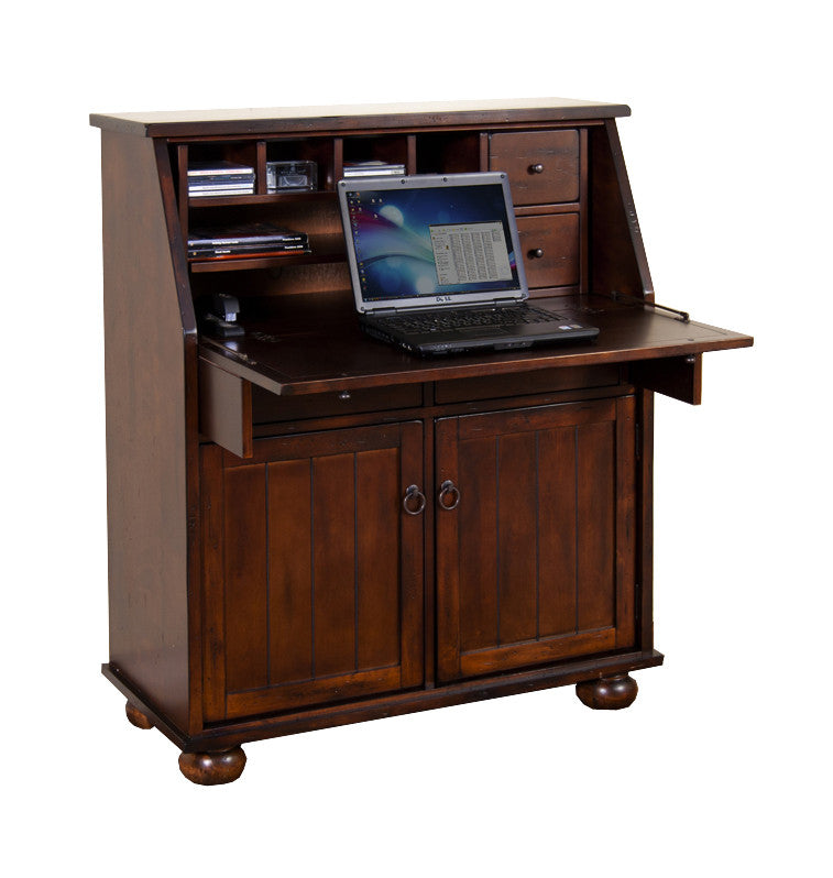 SD-2939DC2 - Santa Fe Drop-leaf Laptop Desk Armoire - Oak For Less® Furniture