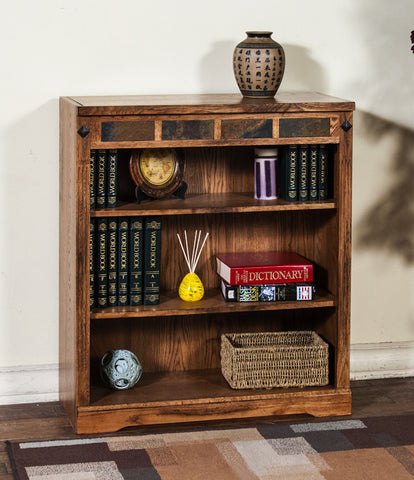 "SD-2952RO-36 - Sedona Rustic Oak 36"" h Bookcase - Oak For Less® Furniture"