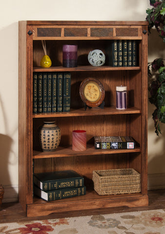 "SD-2952RO-48 - Sedona Rustic Oak 48"" h Bookcase - Oak For Less® Furniture"