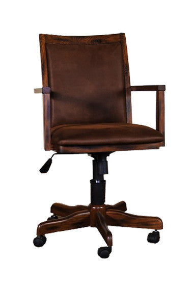 SD-2961DC - Santa Fe Rustic Birch Office Chair with Cushion Back & Seat - Oak For Less® Furniture