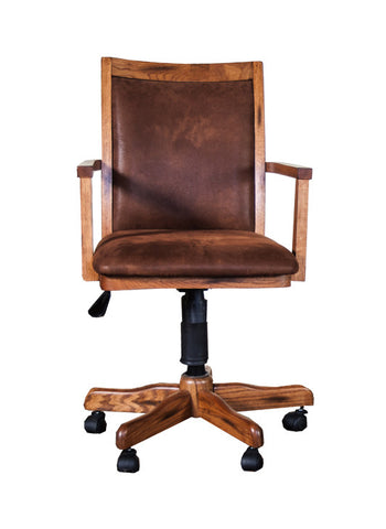SD-2961RO - Sedona Rustic Oak Office Chair with Cushion Back & Seat - Oak For Less® Furniture