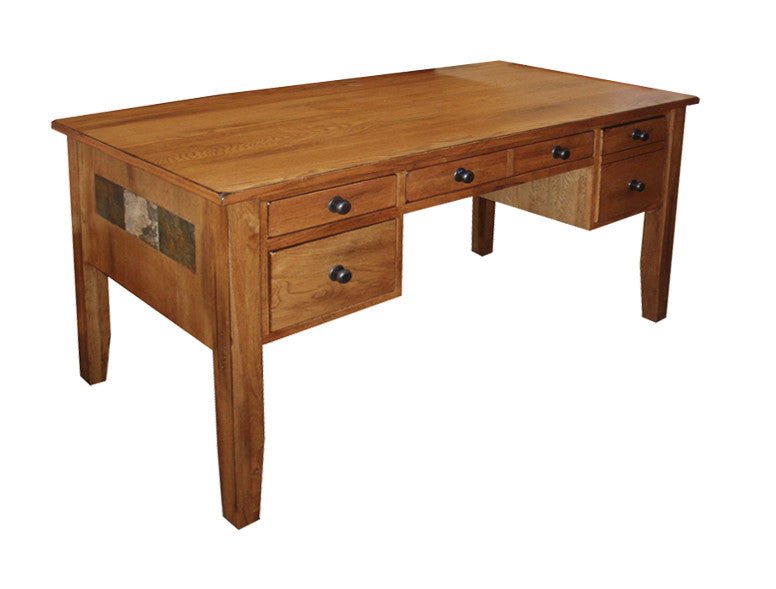 oak writing desk with drawers