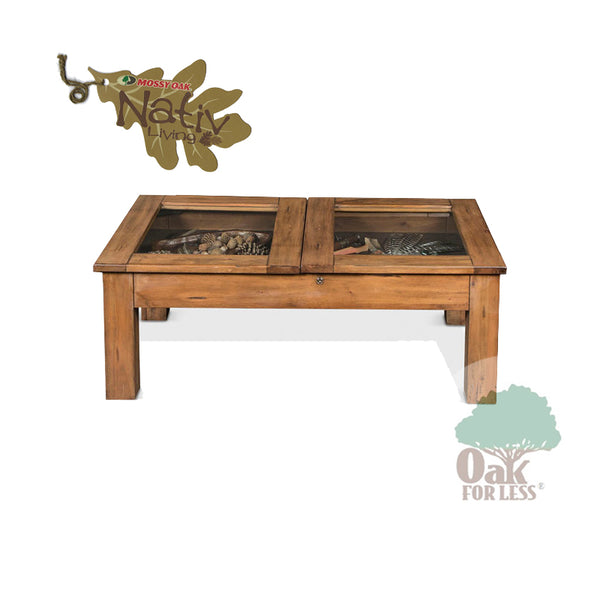 SD-3115DL-CC - Mossy Oak Cocktail Curio Table - Oak For Less® Furniture