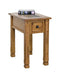 SD-3143RO-CS - Sedona Rustic Oak Chairside Table with Slate Inlay Top - Oak For Less® Furniture