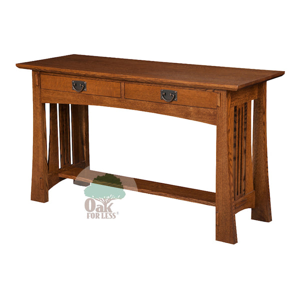 Arts & Crafts Sofa Table | Oak For Less ®